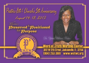 Word of Truth Pastor's 8th & Church's 5th Anniversary
